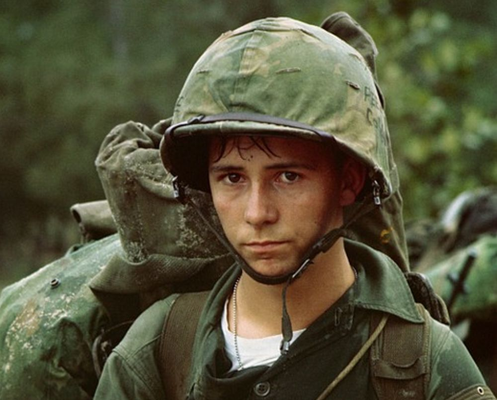 young male soldier