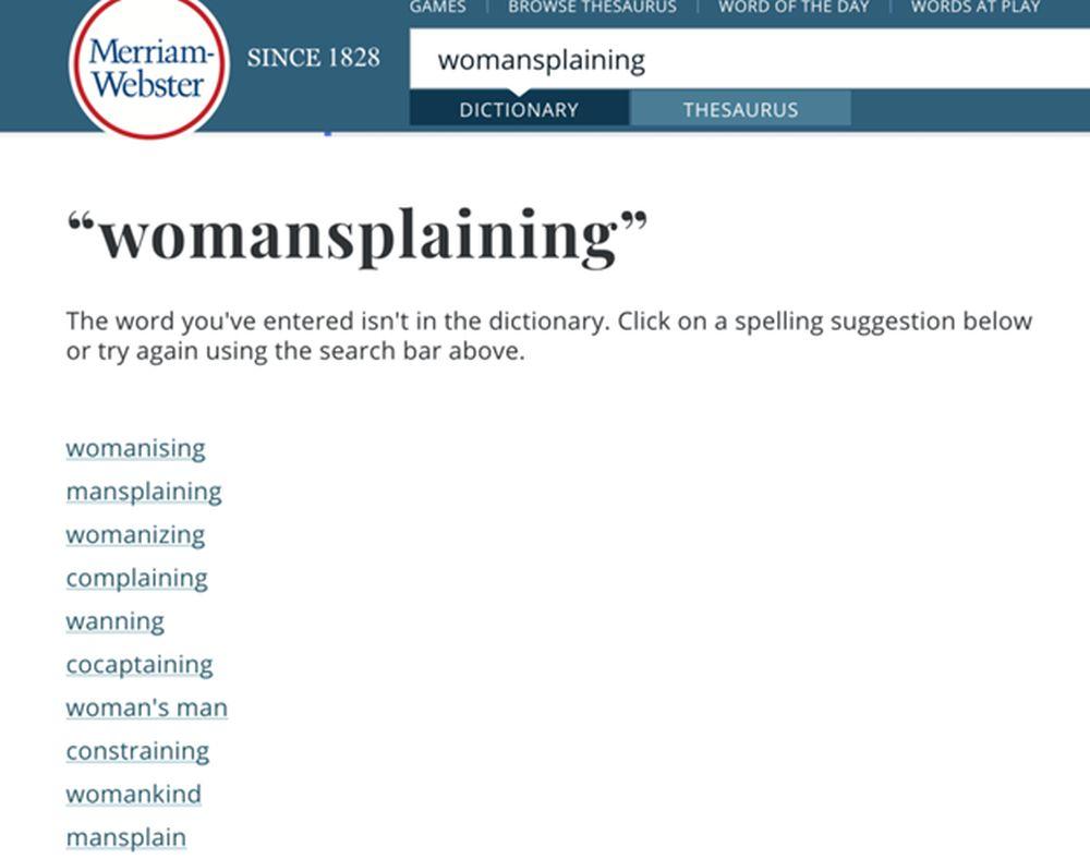 womensplaining