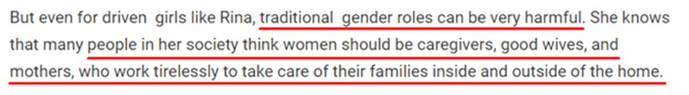quote about traditional gender roles